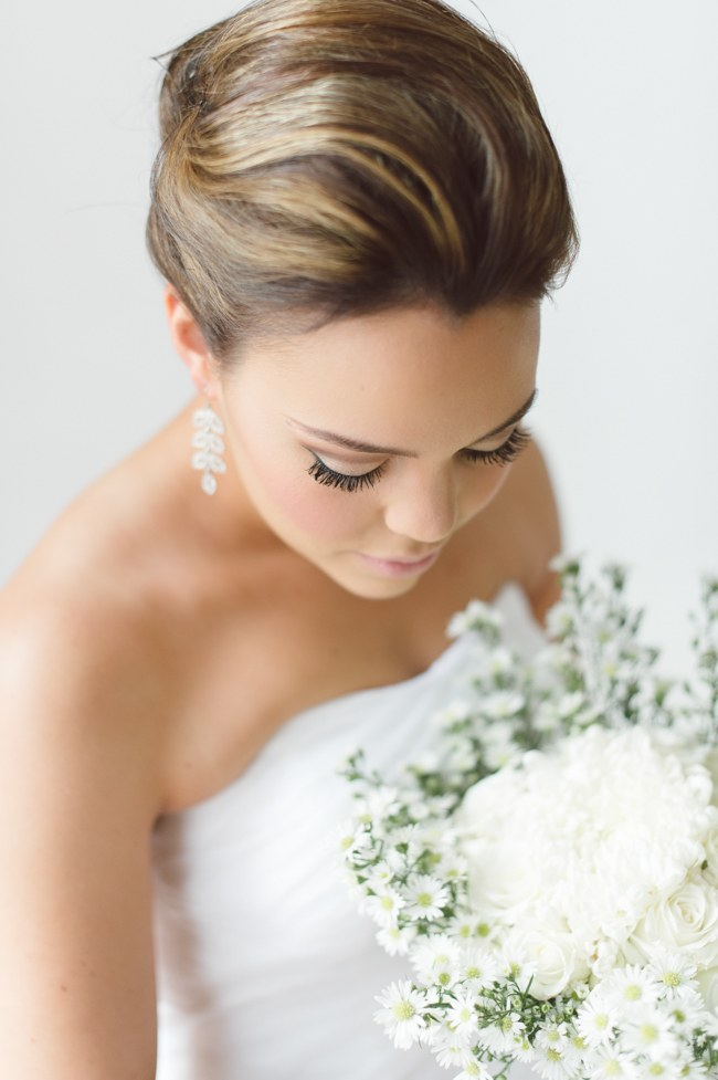 Bridal Updo Wedding Hairstyles with Veil