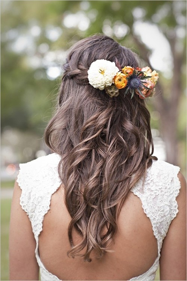Curly Wedding Hairstyles For Brown Hairs