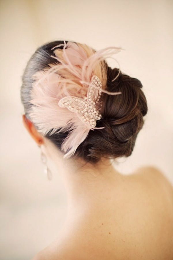 Easy Wedding Hairstyles with Side Headpiece