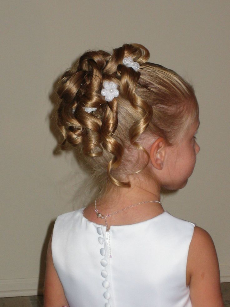 Flower Girl Wedding Hairstyles For Kids