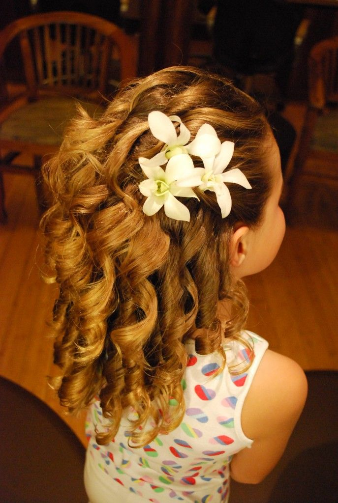 Little Girls Stylish Wedding Hairstyles