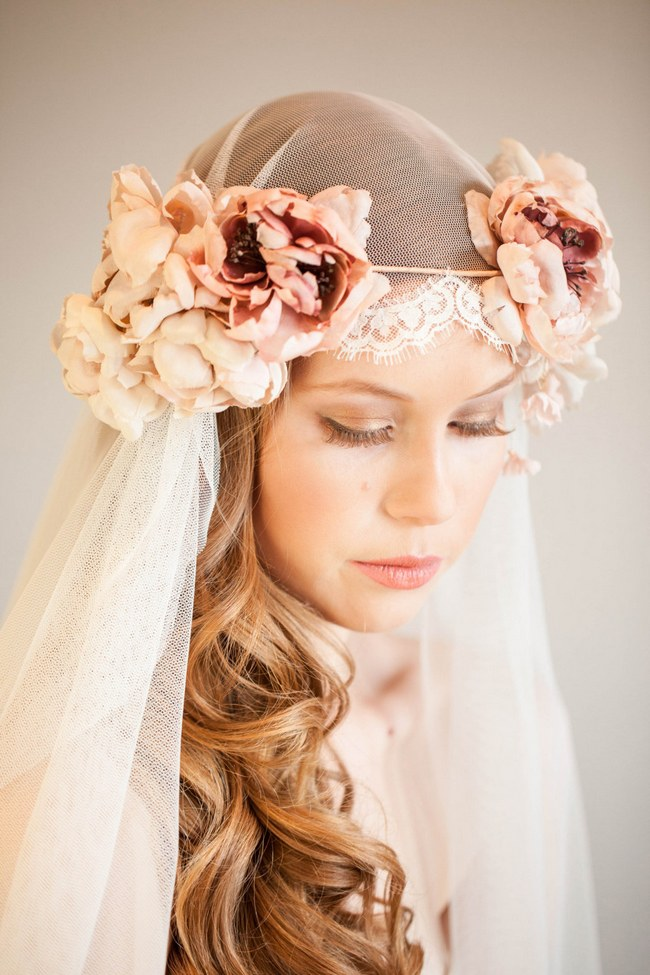 Long Hair Wedding Hairstyle With Crown