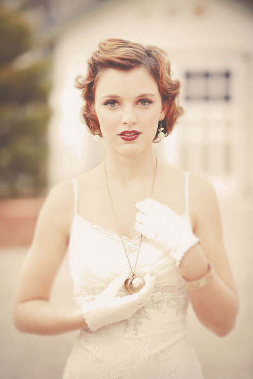 Retro Wedding Hairstyles Short Hair