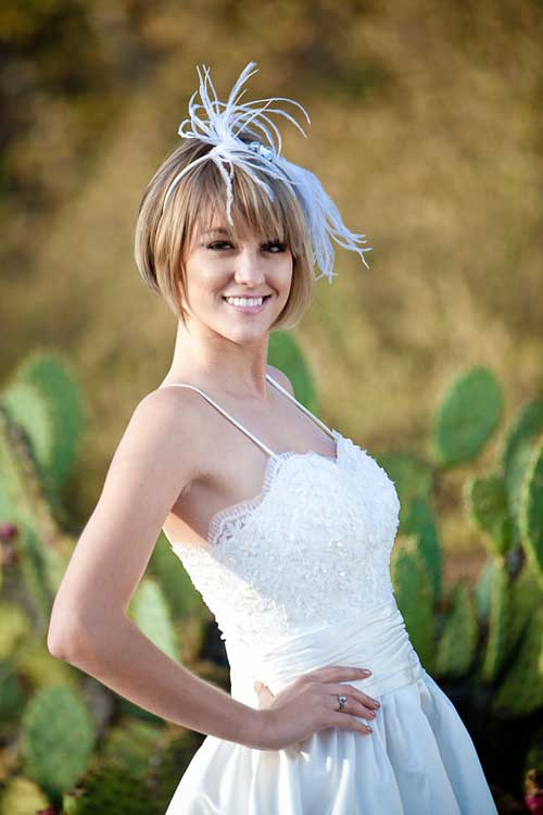 Short Straight Hair Wedding Hairstyles