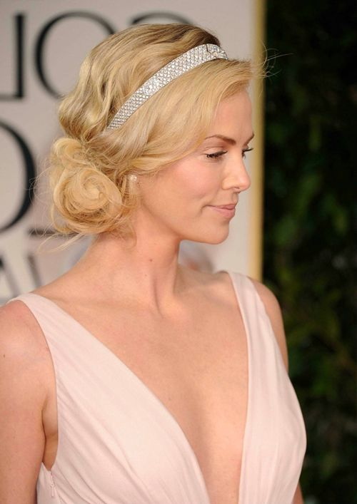 Short Wedding Hairstyles with Headband