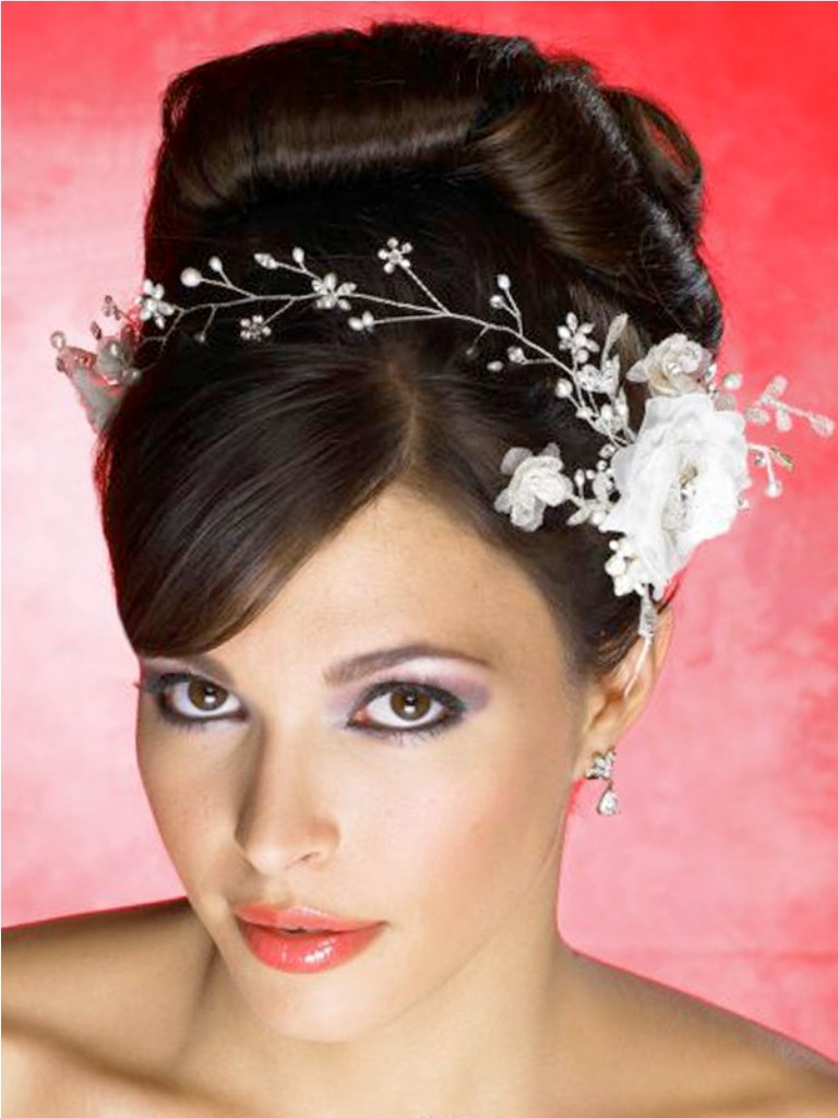 Up-dos Wedding Hairstyles with bangs