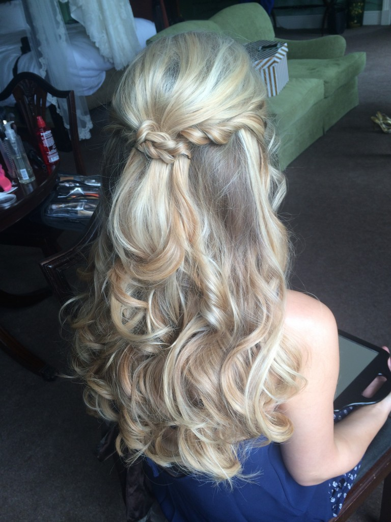 Wedding Hair Hailf Up Half Down