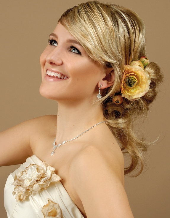 Wedding Hairstyles for Long Hair with Flowers 2016