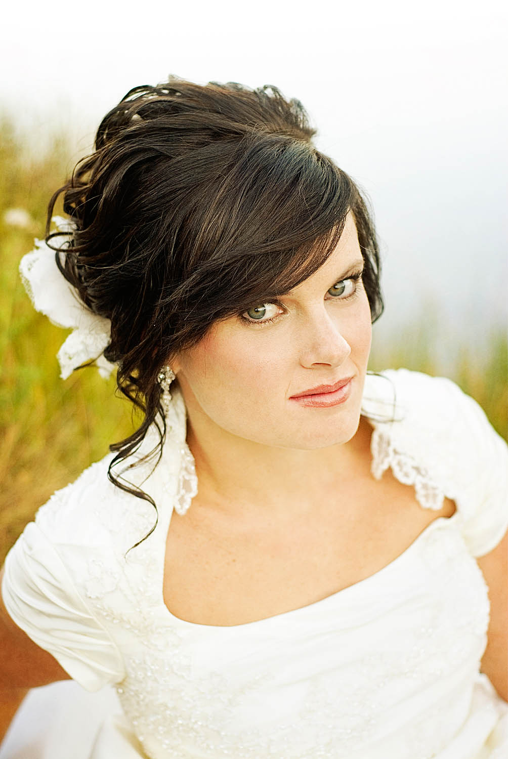 Wedding Hairstyles with Bangs for Long Hair