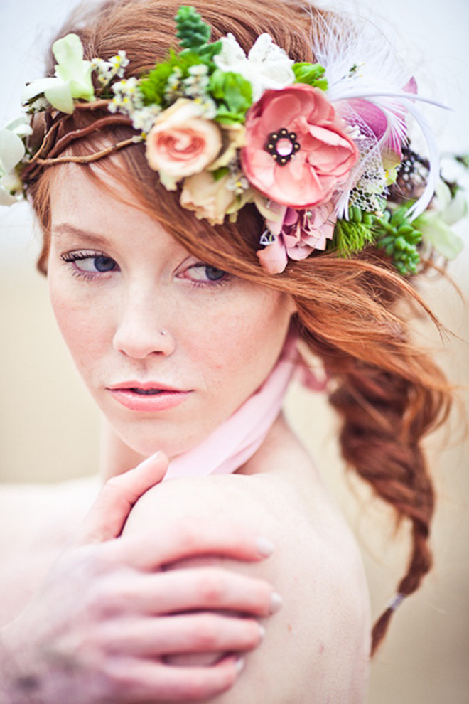 Wedding Hairstyles with flower crown 2016