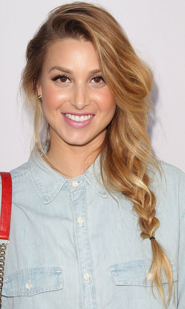 Whitney Port with loose plaited Loose Wedding Hairstyles