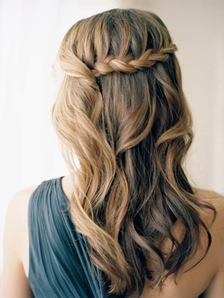 half up half down Boho Wedding Hairstyles