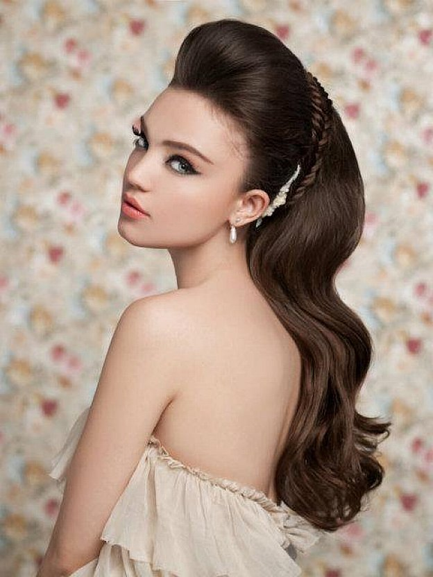 wedding hairstyles for long straight hair pretty