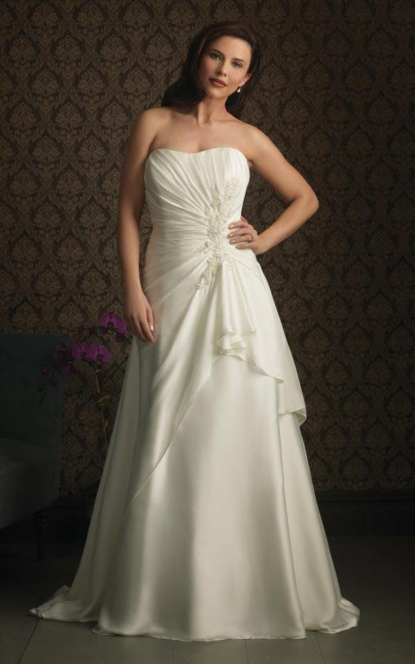 A Line Plus Size Wedding Dresses