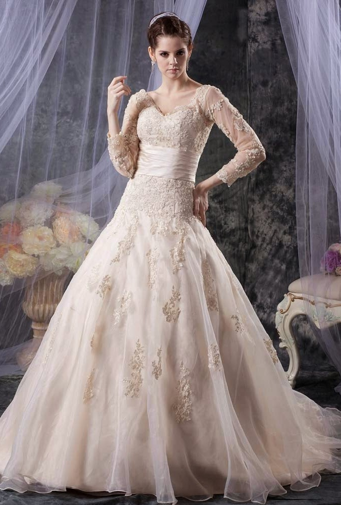 Ball Gown Wedding Dress with Bling 2016