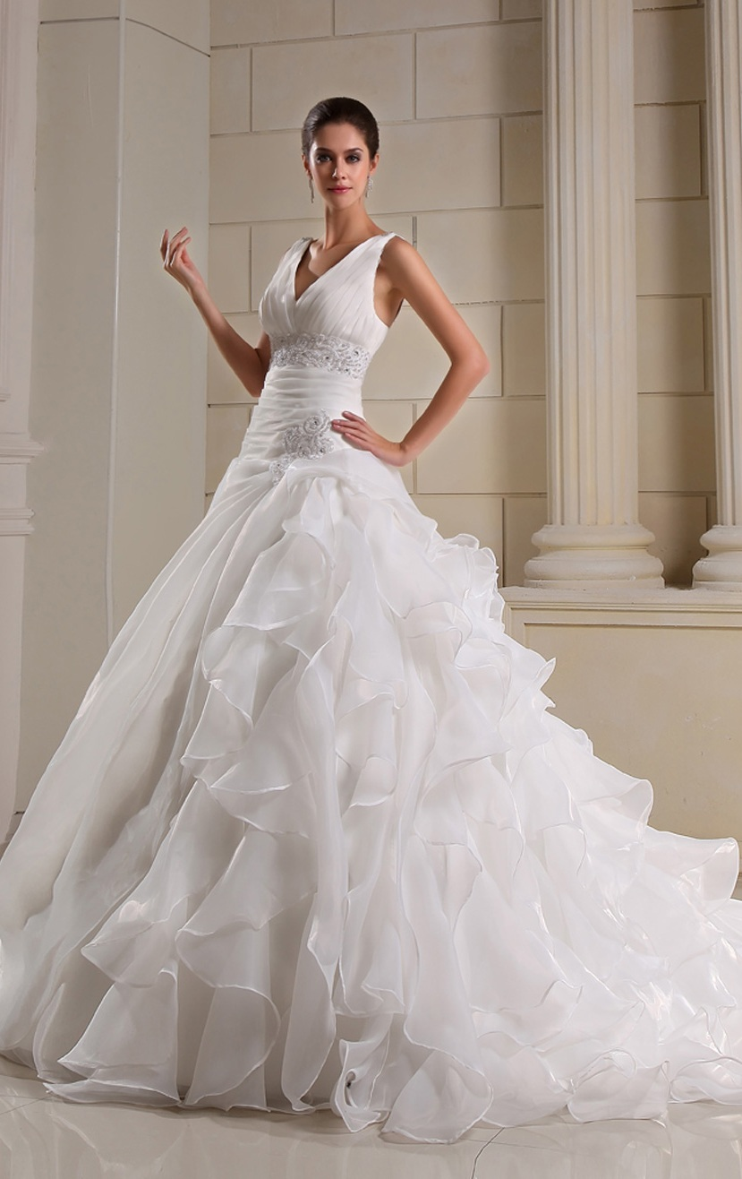 Ball Gown Wedding Dress with Bling
