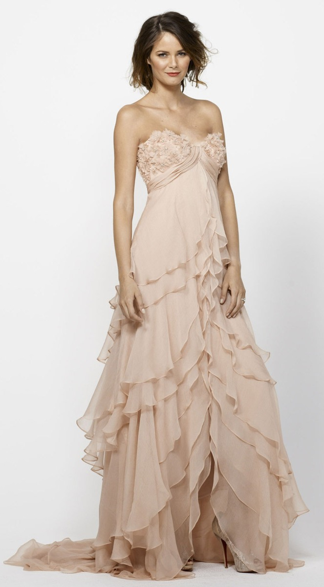 Blush High Low Beaded Wedding Dresses