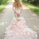 20 Blush Wedding Dresses Ideas