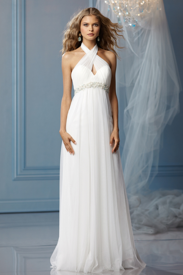 Empire Waist Halter Wedding Dress