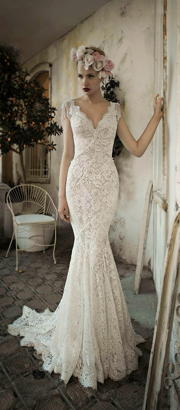 Gorgeous Mermaid Vintage Wedding Dresses