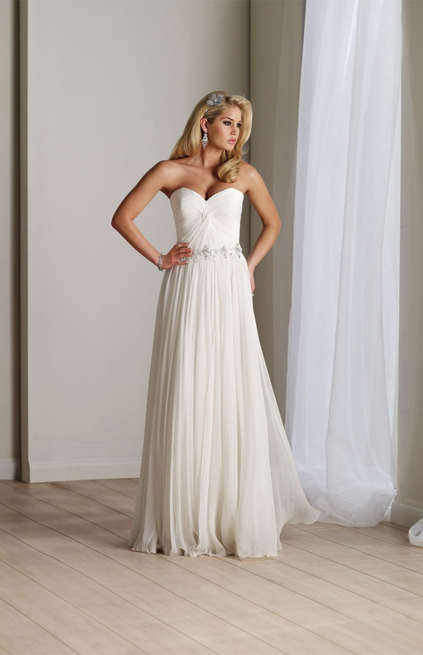 Long Flowy Chiffon Wedding Dresses