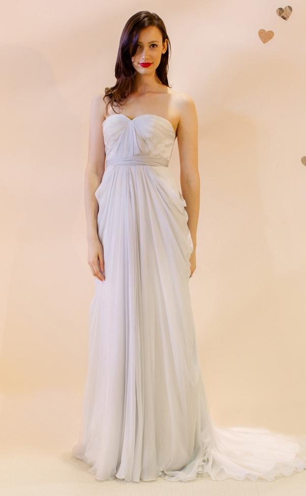 Silk Chiffon Wedding Dress
