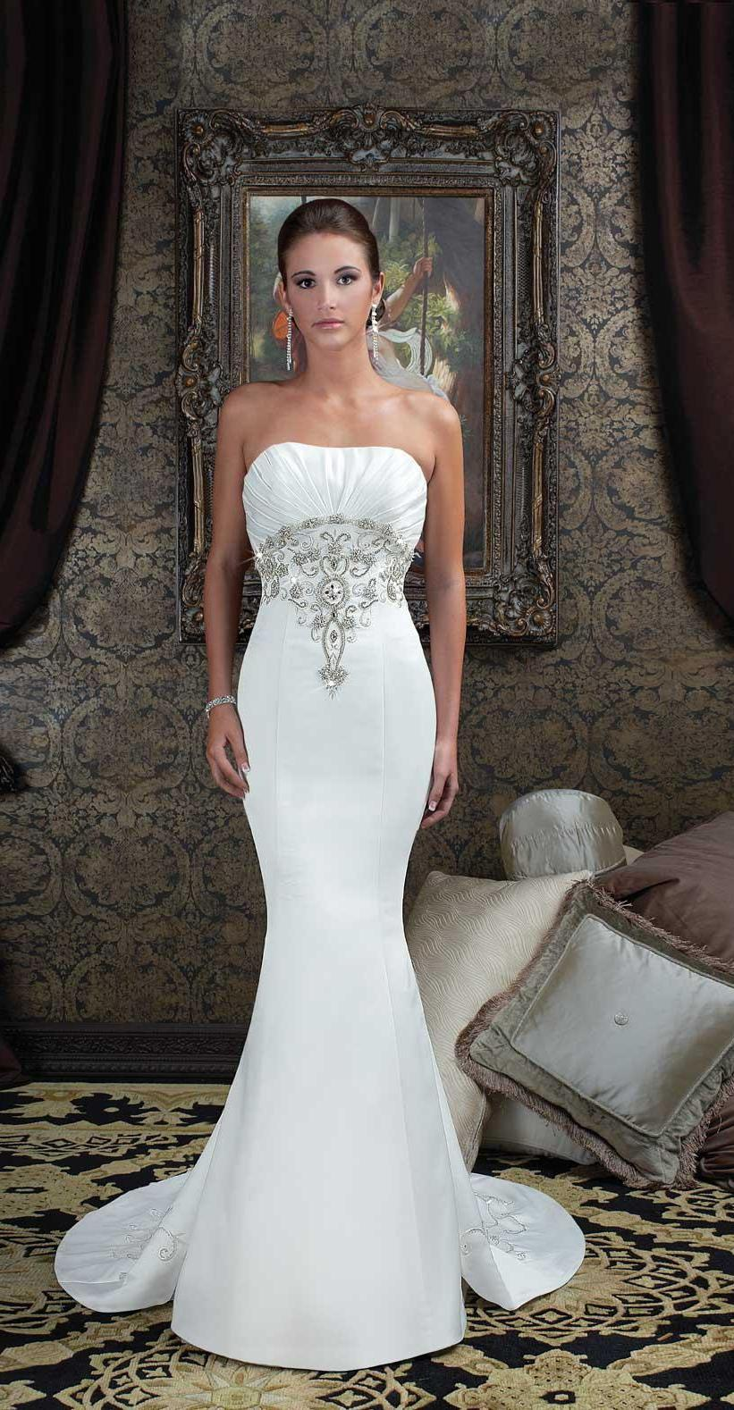 Strapless Beaded Wedding Dresses