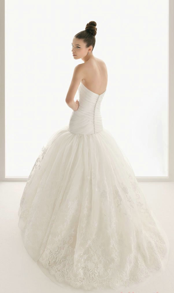 Strapless Puffy Ball Gown Wedding Dresses 2016