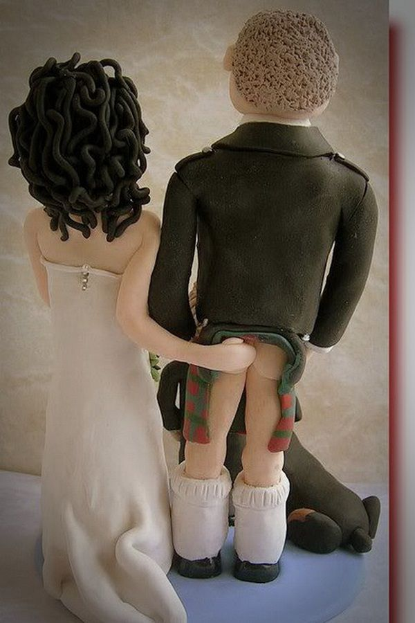 Vintage Funny Wedding Cake
