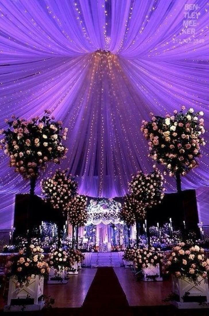 http://www.bridalguide.com/photo-of-the-day/fabric-draped-ceiling-purple-uplighting