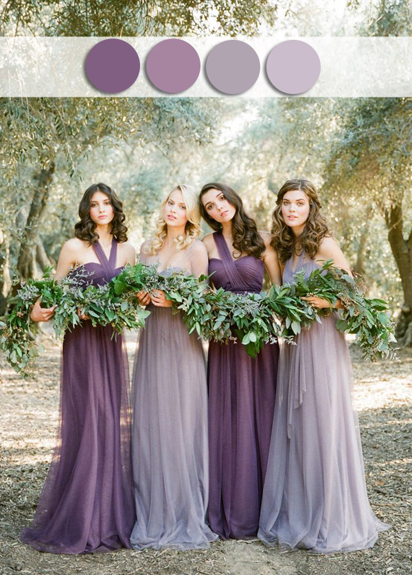 purple lavender fall wedding color ideas