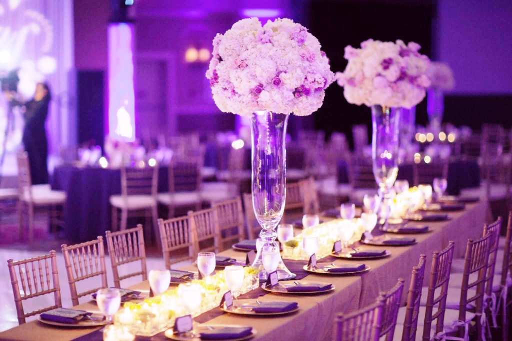Beautiful Purple Wedding Decorations