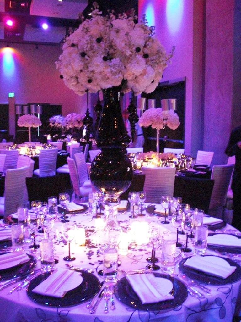 Black White and Lavender Wedding Decorations