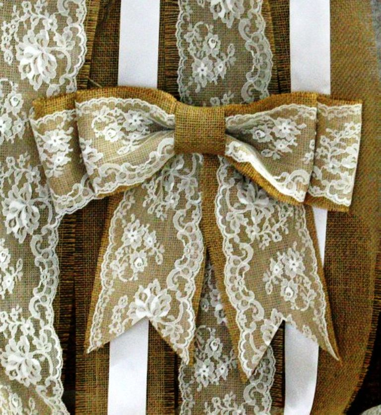 Burlap and Lace Theme Wedding Decorations
