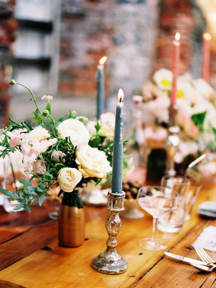 Candles Wedding Reception Table Decoration