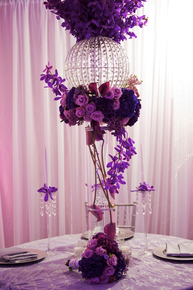 Cheap Purple Wedding Centerpiece Decorations Ideas