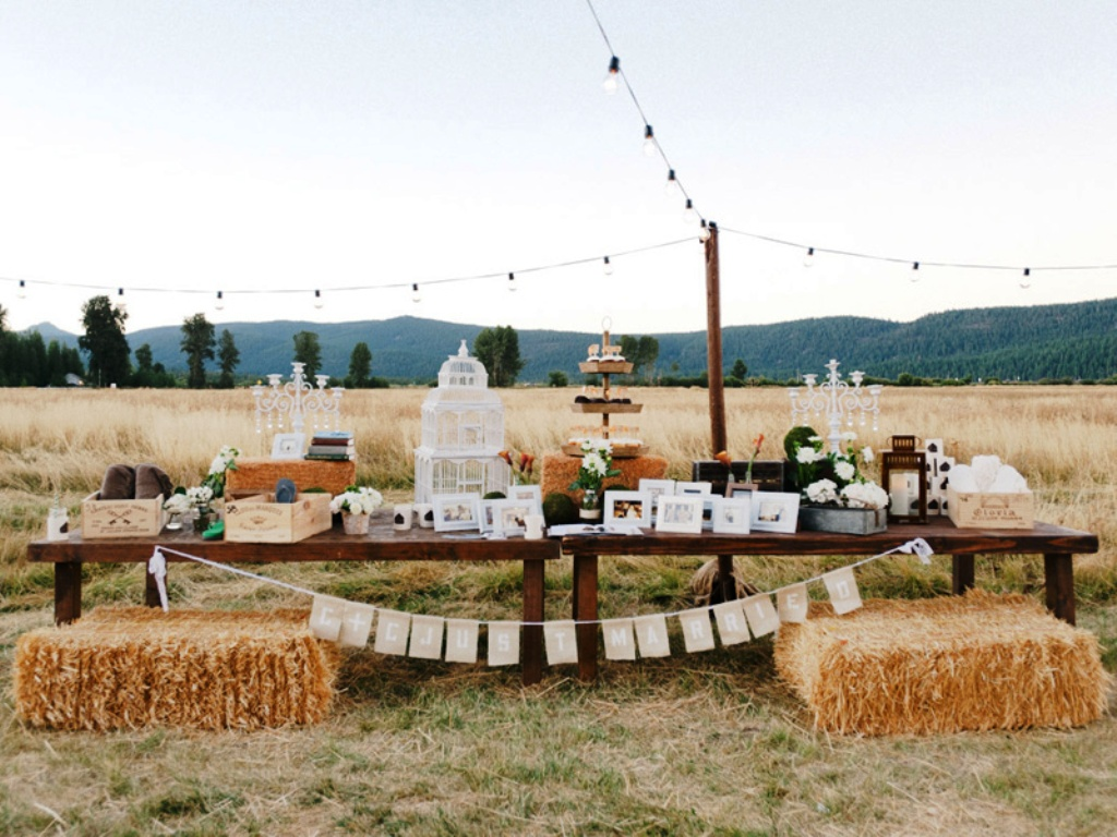 Country Wedding Decorations for Outdoor