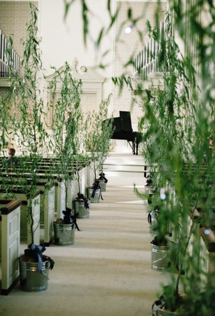 Creative Church Green Wedding Decorations