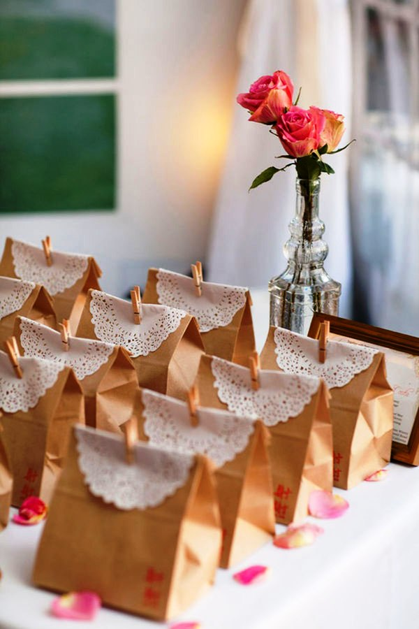 DIY Party Favor Bag Wedding Decorations Ideas