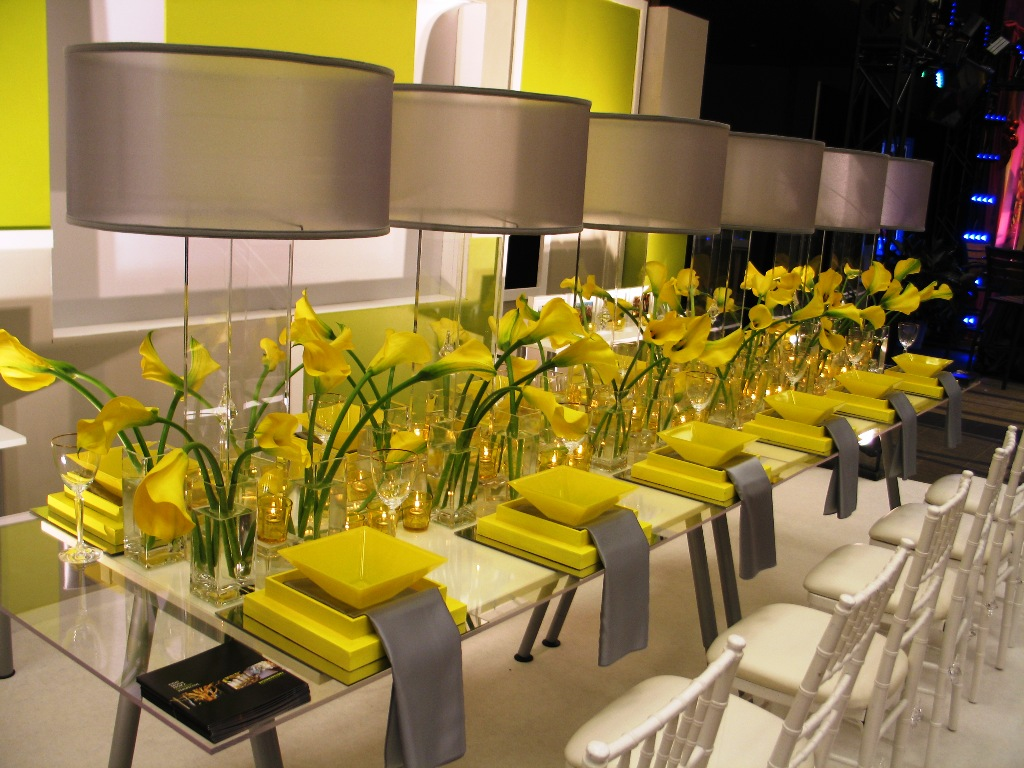 Elegant Yellow Wedding Decorations