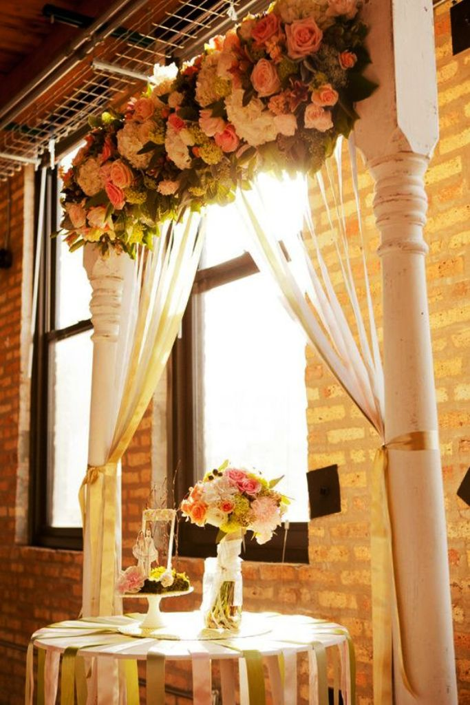 Indoor Wedding Ceremony Arches Decorations
