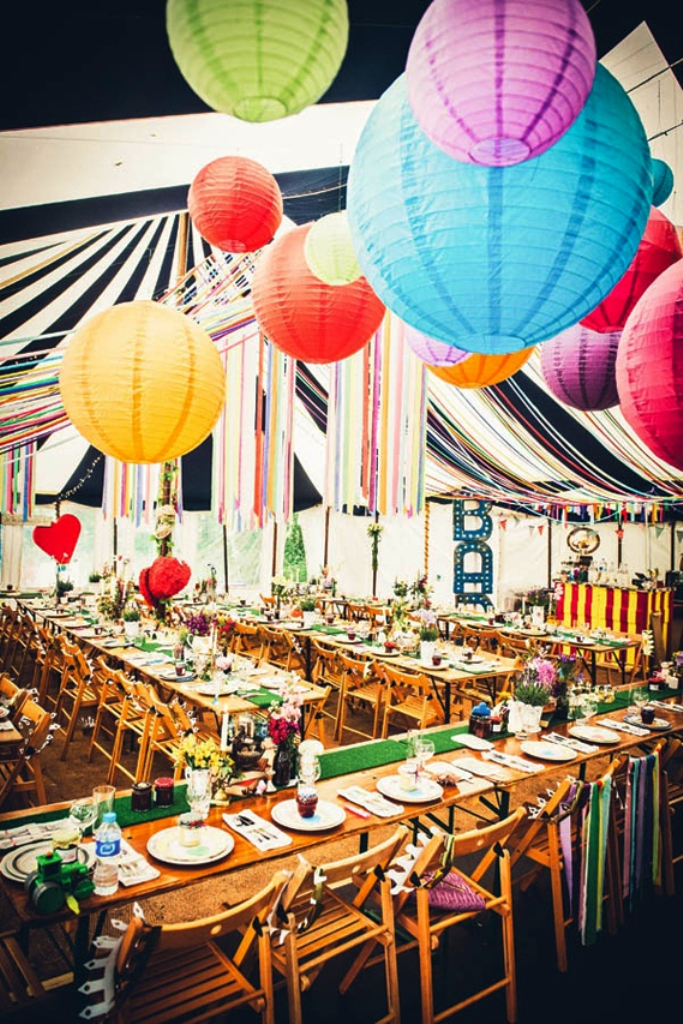 Lantern Colorful Wedding Decorations