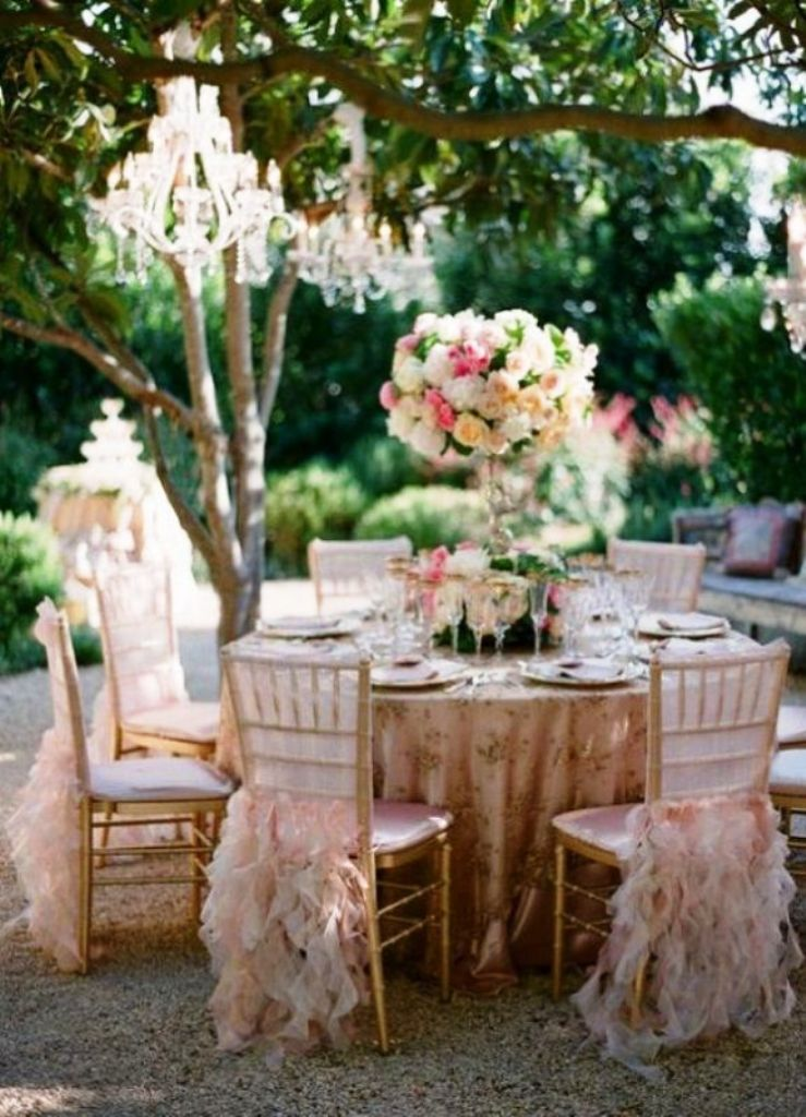 Luxury garden wedding reception ideas