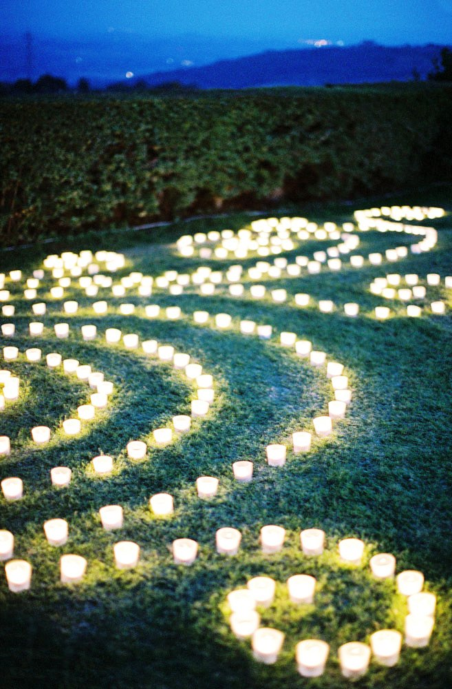 Outdoor Wedding Candles Decorations Ideas