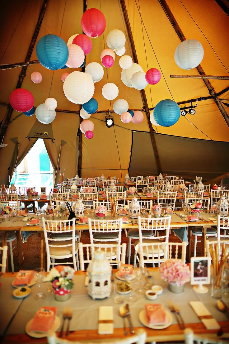 Paper Lanterns Wedding Tent Decorations