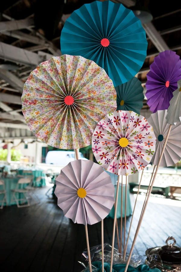 Paper Pinwheel Wedding Decorations