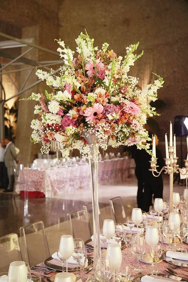Pastel Flower Wedding Centerpieces Decorations