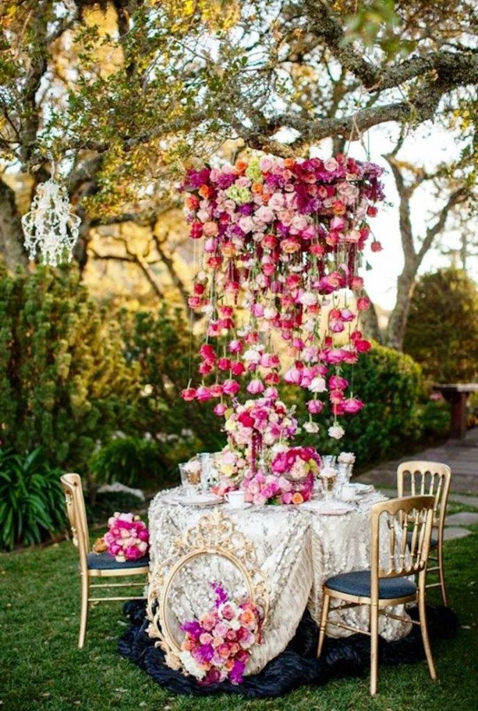 Pink Whimsical Garden Wedding