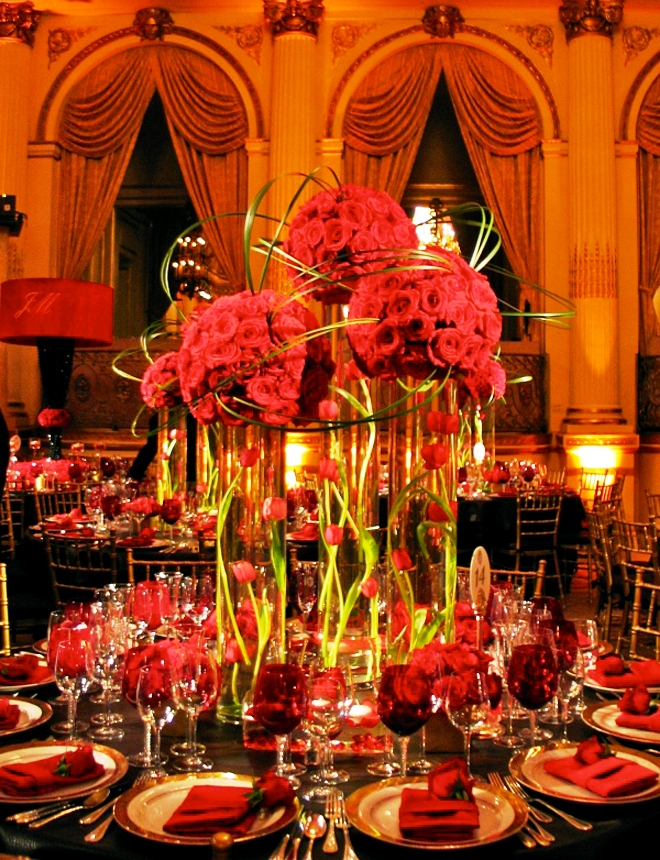 Red Wedding Table Centerpieces Decorations
