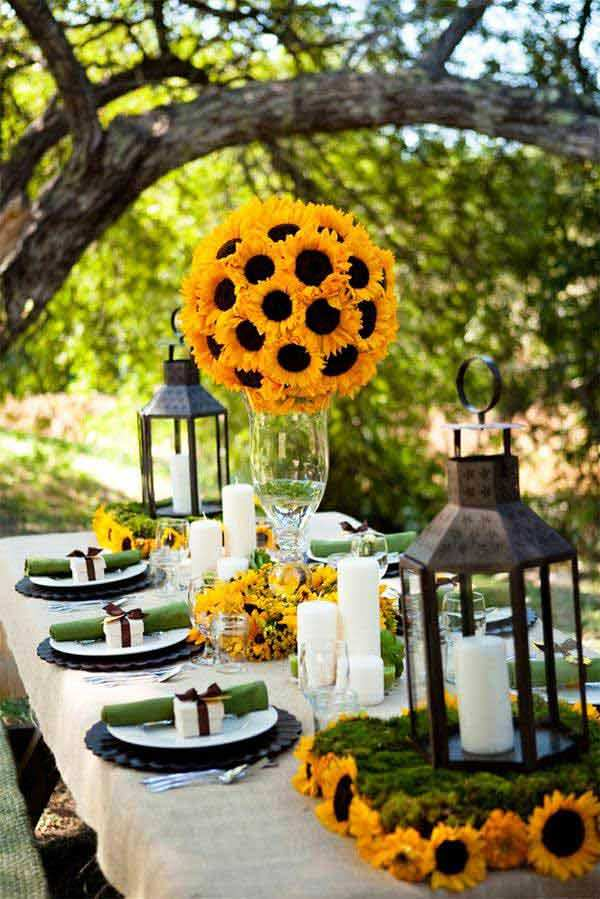 Summer Wedding Dinner Table Decoration Ideas